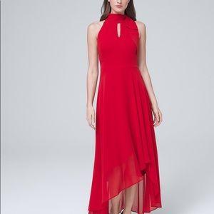 WHBM Tie-Neck Maxi Dress